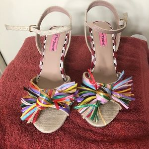 Betsey Johnson wedge colorful sandal